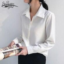 Fashion Office Lady Shirts Blouses Women 2019 Long Sleeve Ch