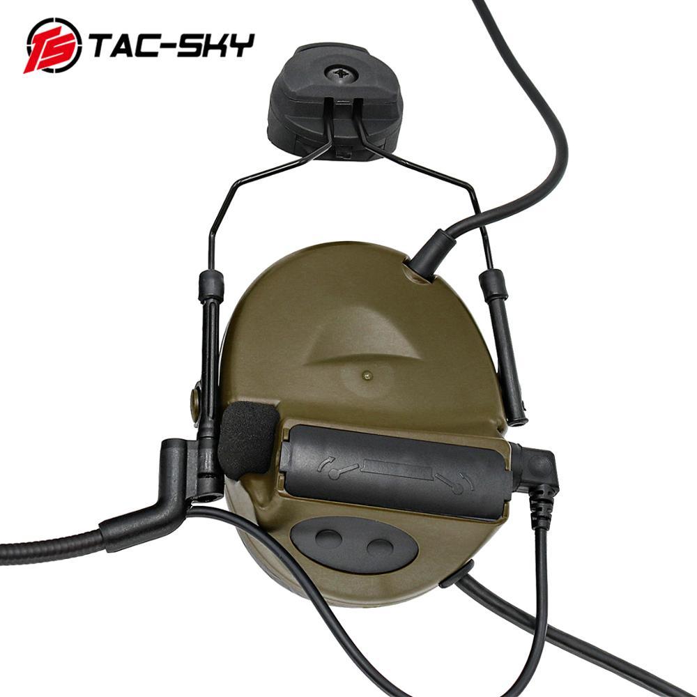 TAC -SKY PELTOR series COMTAC COMTAC II helmet bracket silicone earmuffs noise reduction pickup tactical  headphones comtacii FG