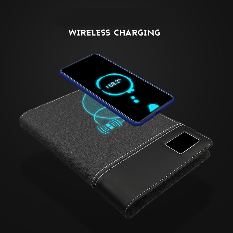 2020 Business Note Book Multi Functional A5 Power Book 8000 MAh Power  Wireless Charging Note Book Binder Spiral Diary Planner