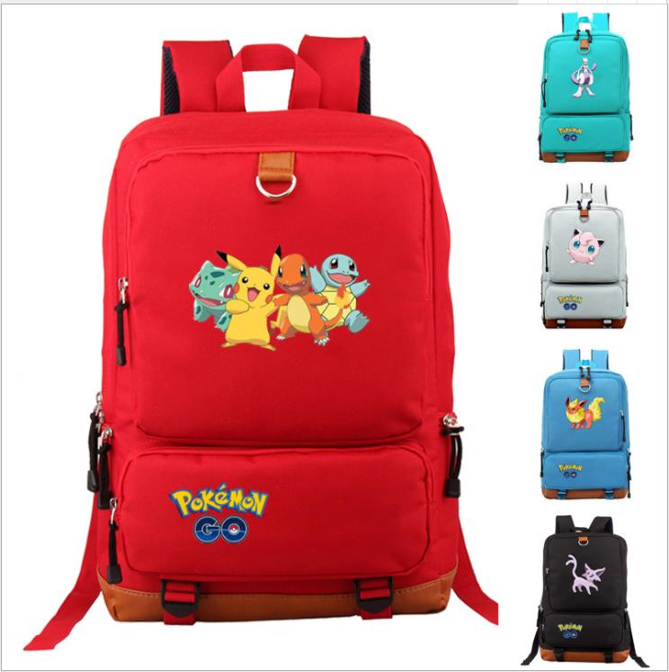 Mochilas Fashion Pokemon Go Backpack Students Backpack Computer Backpack School Bags Big Capacity Travel Laptop Bag