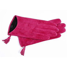 Ladies Autumn Winter Sheepskin Gloves Zipper Tassel Suede Leather Driving Short Women Real Locomotive DZZP09