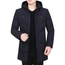 NEW Winter mens cotton-padded business casual warm padded coat hooded jacket men winter coats