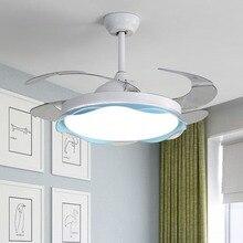Светодиодный Невидимый потолочный вентилятор, светодиодный вентилятор, современное минималистическое освещение, гостиная, столовая, спальня, потолочные вентиляторы с подсветкой