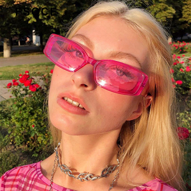 FSQCE New Women Cateye Vintage Red Sunglasses Brand Designer Retro Points Cat Eye Sun Glasses Female Lady Eyeglass