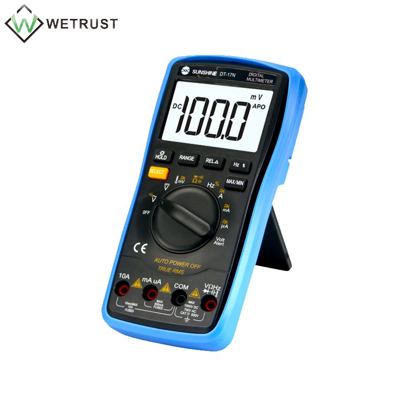 Tools : SUNSHINE DT-17N Multimeter Fully Automatic High Precision Digital Display AC DC Voltage and Current Resistance Measurement