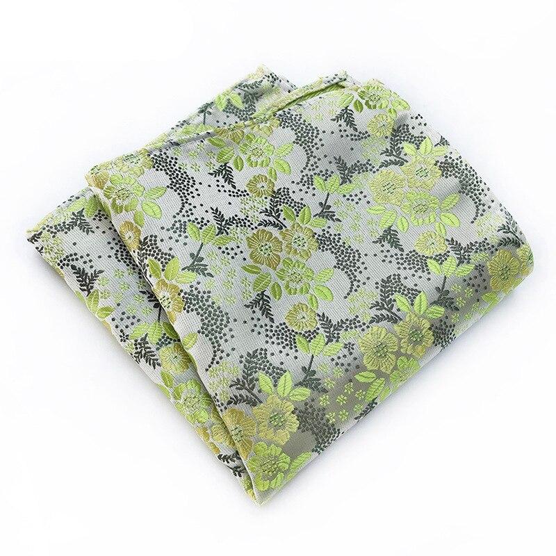 New Men's Fashion Pocket Square Gifts For Men Classic Wedding Necktie Red Flower Mens Ties Polyester Silk Tie Handkerchief