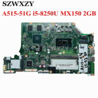 For Acer Aspire A515-51G Laptop Motherboard NBGT011001 NB.GT011.001 C5V01 LA-E892P i5-8250U CPU MX150 2GB GPU 4GB RAM 1