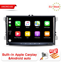 "9"" IPS Screen 8 Core Android 8.1 Built-in Carplay Car GPS Navigation For POLO GOLF 6 PASSAT CC(China)"