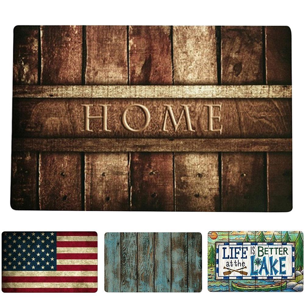 Welcome Home Entrance Floor Rug Non-slip Doormat Carpet Decor Letter Door Mats.