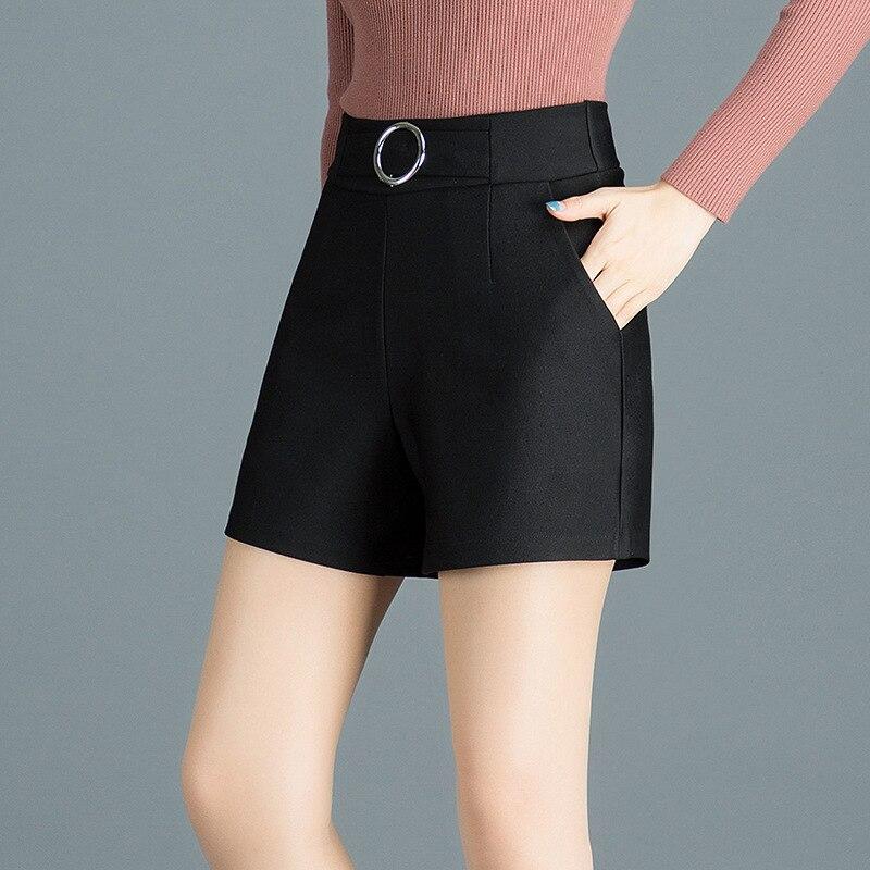 Women Shorts Casual Style Ladies Gray Shorts Hot Sale Plus Size Cotton Female Shorts  White