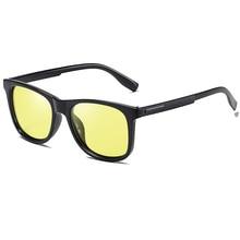 Квадратные фотохромные линзы поляризованные мужские солнцезащитные очки для вождения день и ночь, черные антибликовые мужские солнцезащитные очки S176