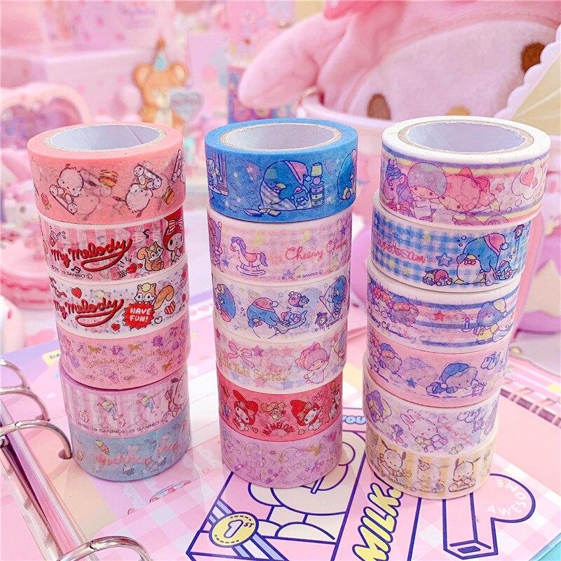 2pcs/lot Cartoon Japan Washi Tape Masking Tape DIY Album Decoration Tape Adhesive Tape Scrapbooking