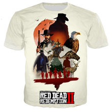Hot Game Red Dead Redemption 3D Printed T-shirt Men/women New Fashion Cool Casual Harajuku Style T Shirts Streetwear Tops