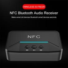 Bt200 receptor de áudio bluetooth 5.0, nfc 3.5mm, aux rca, jack, hifi, adaptador automático para carro, sem fio adaptador, adaptador