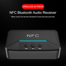 Hot BT200 Bluetooth 5.0 Audio Receiver NFC 3.5mm AUX RCA Jack Hifi Wireless Adapter Auto For Car Wireless Auto Adapter