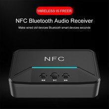 Sıcak BT200 Bluetooth 5.0 ses alıcısı NFC 3.5mm AUX RCA jakı Hifi kablosuz adaptör dvd otomatik araba kablosuz otomatik adaptörü