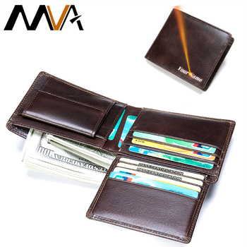 MVA Vintage Men Wallet Coin Pocket Genuine Leather Wallets For Men Wallets Small Zipper Wallet With Card Holder Man Purse   7313 genuine cow leather men wallets rfid double zipper card holder high quality male wallets purse vintage coin holder men wallets