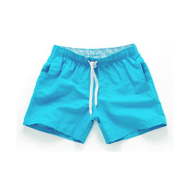 2020 Summer Shorts Women Solid Plus Size Male Female Beach Waterproof Quick Dry Shorts Trunks Gym Sports Short Pants 17 Colors