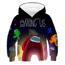 Game Among Us Hoodie 4 To 19 Years Boys Girls Thin Hoodies Polyester Among Us Clothes For Kids Adult Pullover Oversize Clothes