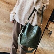 Crocodile Crossbody Bag For Women Shoulder Bag Brand Designer Women Bags Luxury PU Leather Bag Bucket Bag Handbag A091 цены