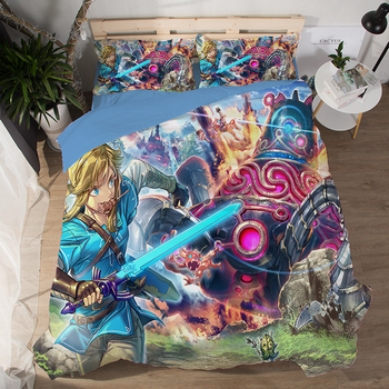 Hot Sale game Movie Legend of Zelda 3D Good Quality Bedding Set Printed Duvet Cover Set Twin Full Queen King Size Dropshipping