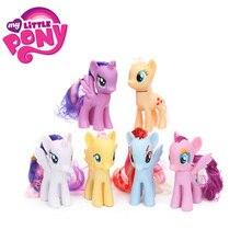 Zestaw 6 zabawki My Little Pony zestaw przyjaźń jest magiczna tęcza Dash Twilight Sparkle Pinkie Pie rzadkość PVC Action Figures lalki