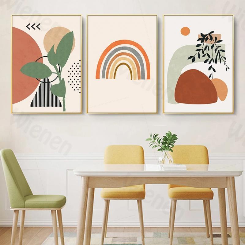 Абстрактный геометрический Графический бохо стиль постер Декор