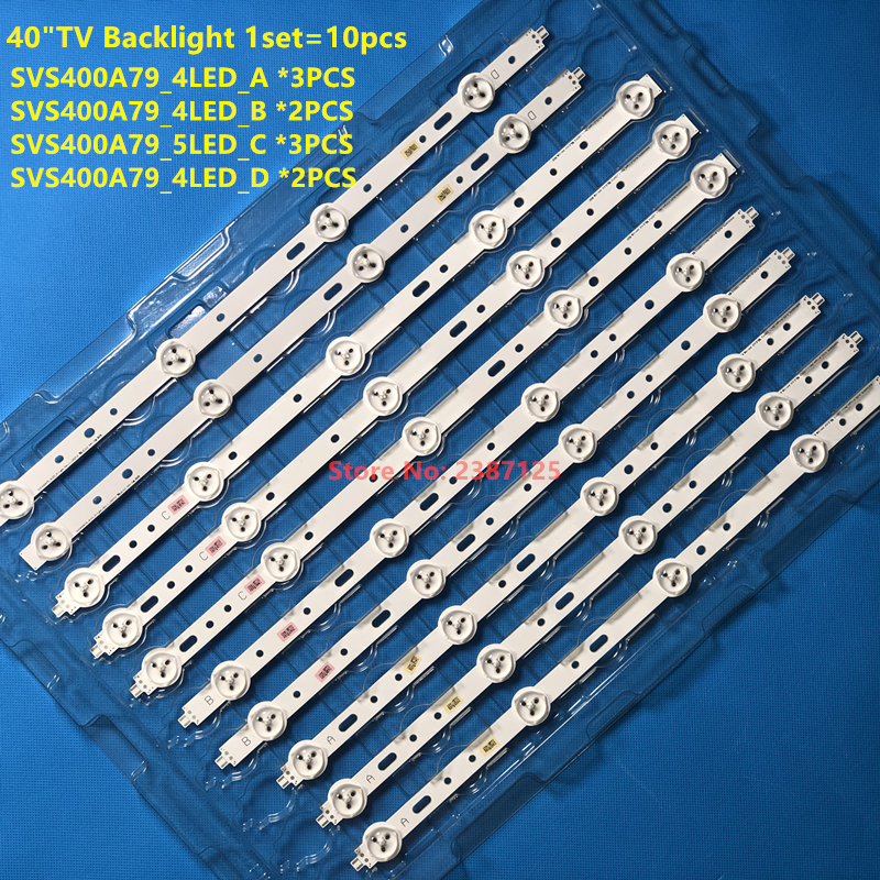 LED Backlight 4/5 Lamp For Sam Sung TV 40 Inch SVS400A73 40D1333B 40L1333B 40PFL3208T LTA400HM23 SVS400A79 40PFL3108T / 60