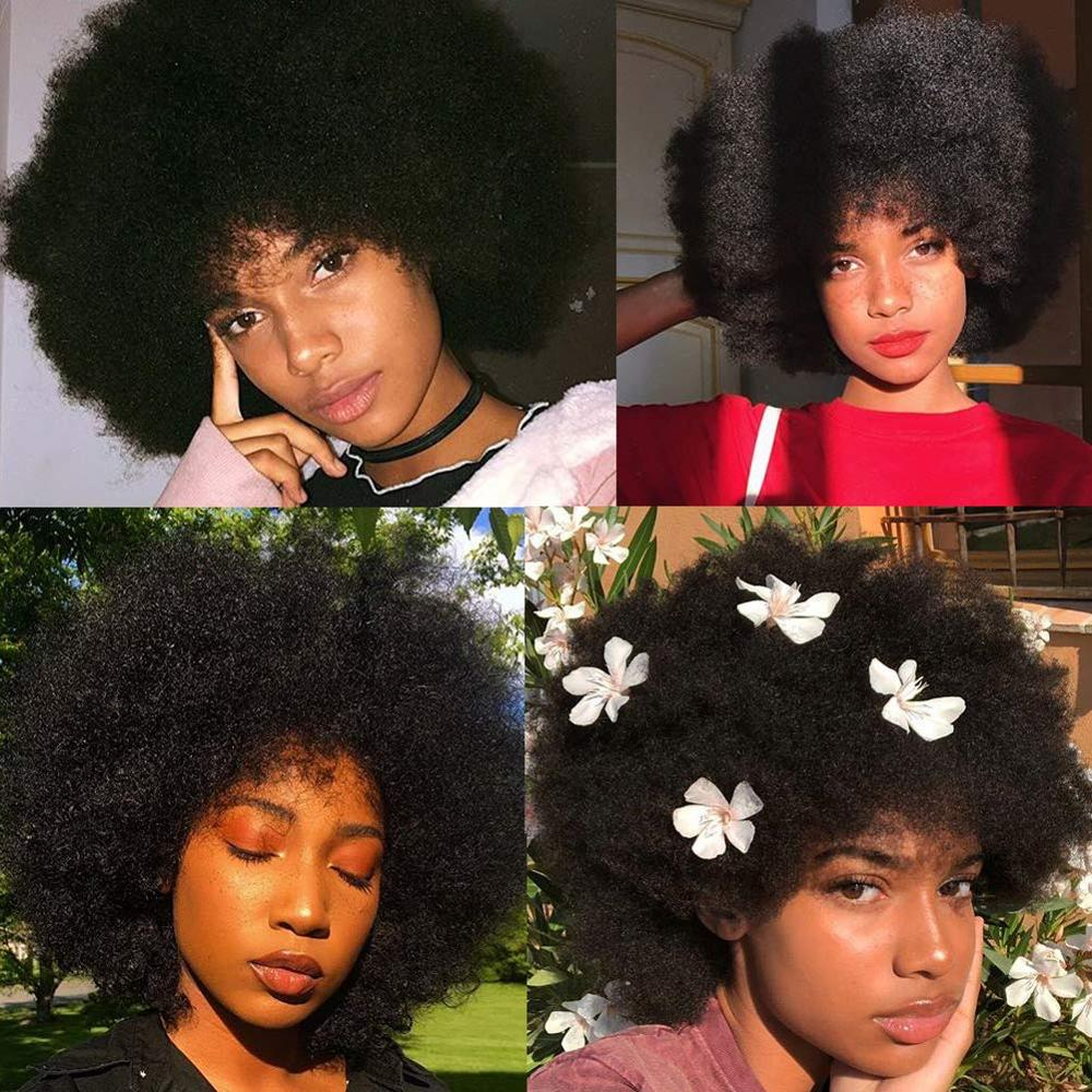 Afro Wigs for Women Short Kinky Curly Wig Fluffy and Soft Layered Short Wigs Temperature Fiber Synthetic Afro Puff Wig