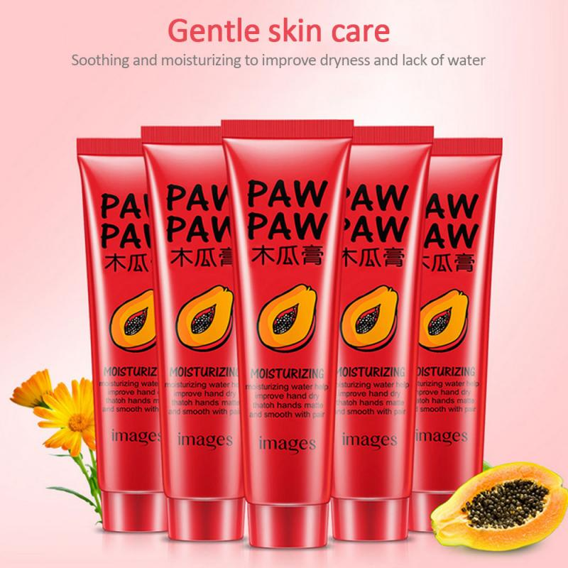 1PC Papaya Cream Universal Cream Hydrating Face Moisturizing Cream Smoothing Anti Aging Hand Care Foot Cream Lip Balm TSLM2