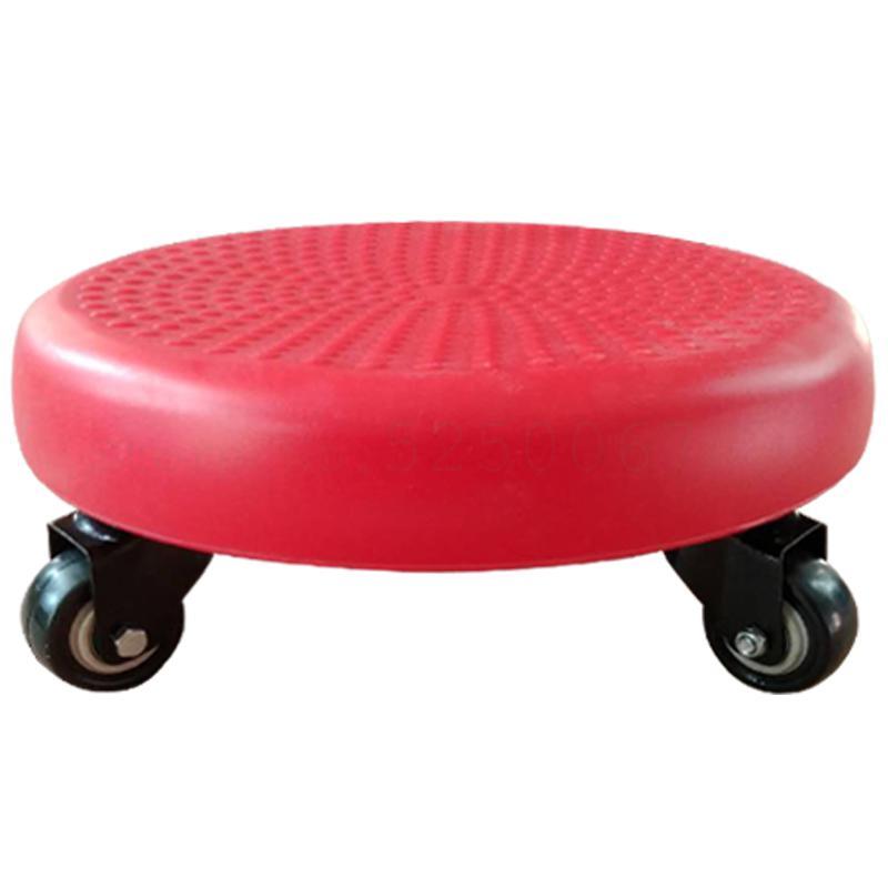 Творческий колесный табурет пуф для ног шкив стул мобильный цветочный горшок стеллаж для выставки товаров красоты шов стул для уборки