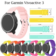 Colorful Soft Silicone Watch Band Strap For Garmin vivoactive3 vivomove HR Smart Watch Accessories for Garmin Vivoactive 3 strap hot sale fabulous replacement soft leather watch band strap tool for garmin vivoactive sporting goods accessories dec07
