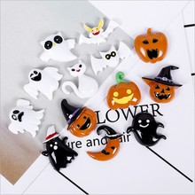 Halloween set natator resina cabochão Jóias accessoories telefone deco cabelo bow diy Scrapbook Enfeite(China)