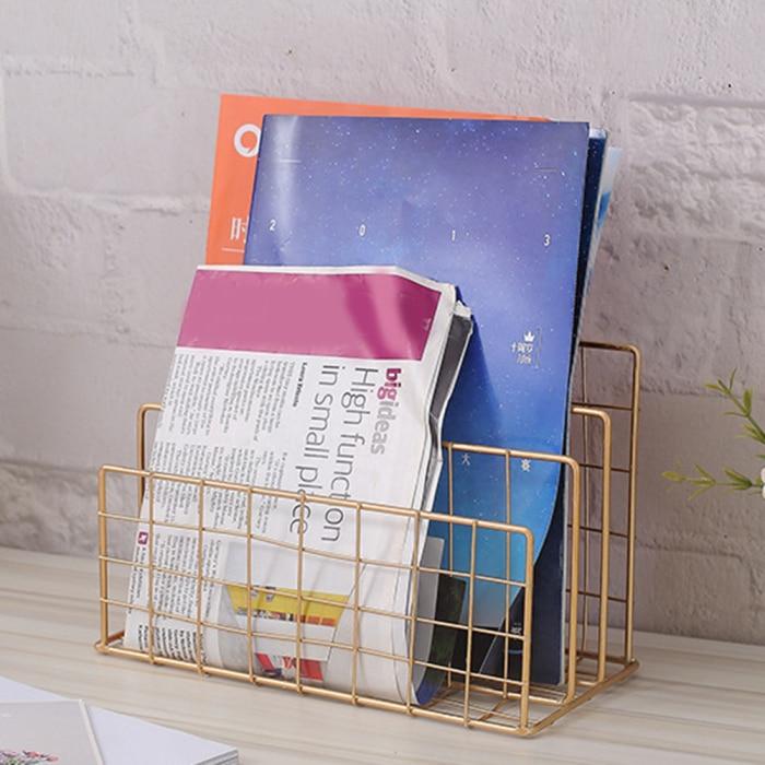 Скандинавский книжный файл стенд Железный Рабочий стол многослойный журнал стойка для хранения косметики OUJ99