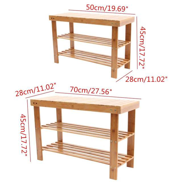 Wooden Entryway Shoe Bench 5
