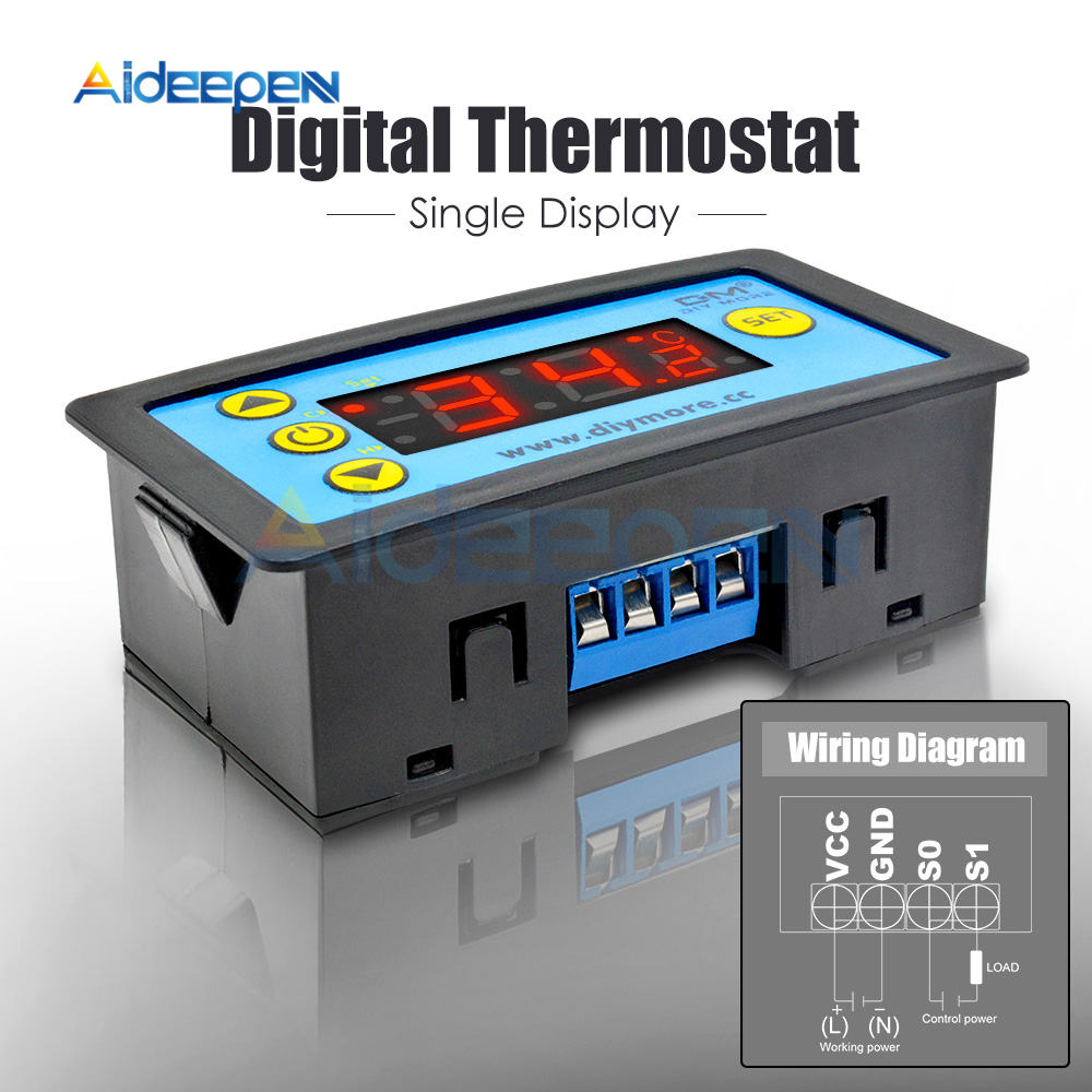 H281885db1b6d4c32a6eaa898d02eb925i W3230 AC 110V-220V DC12V 24V Digital Thermostat Temperature Controller Regulator Heating Cooling Control Instruments LED Display