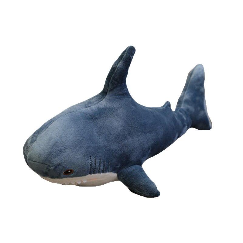 1 pcs ins 15-140cm 상어 플러시 장난감 잠자는 베개 여행 동반자 장난감 선물 상어 귀여운 박제 동물 물고기 베개 펜던트 완구
