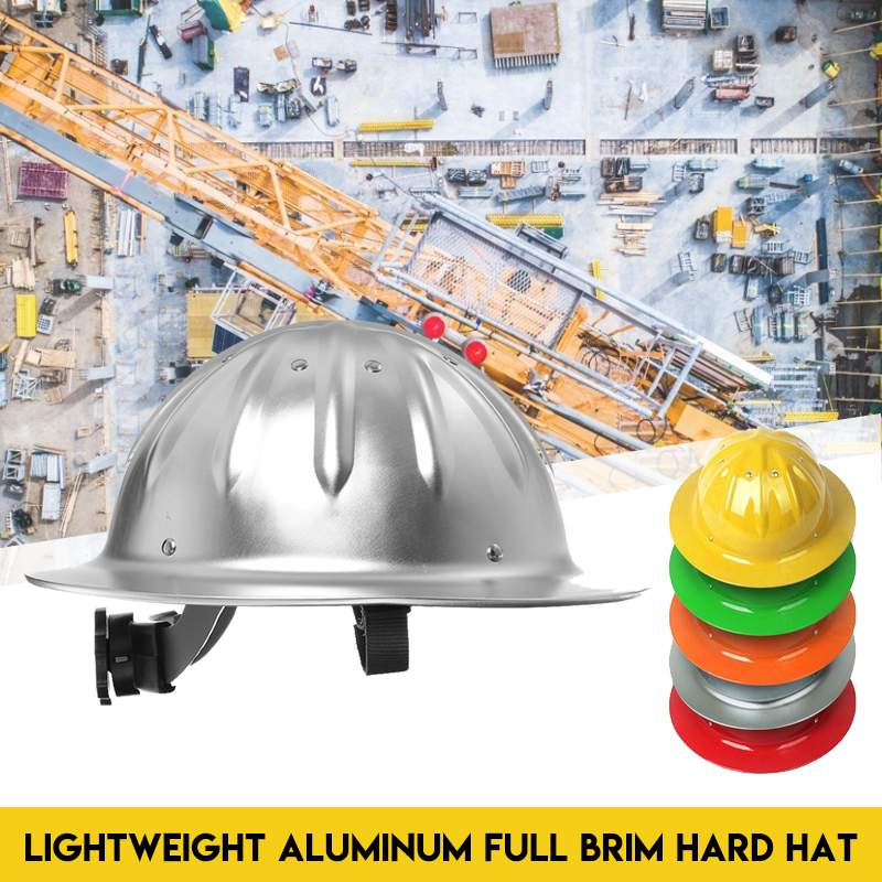 Aluminum Safety Helmet Lightweight Hard Hat Protection Construction Site Climbing Worker Protective Outdoor Helmet Hat Cap
