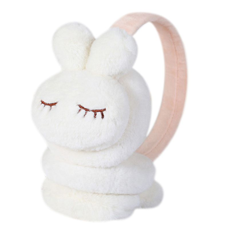 Kids Winter Warm Earmuffs Thicken Plush Cute Cartoon Rabbit Ear Cover Warmers 2XPC
