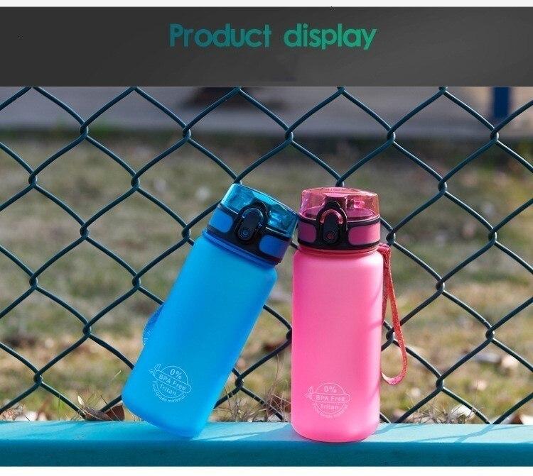 H28189d20ed5447afbd078284d23d8255T Soffe Tritan Plastic Sport Drink Bottle Elastic Cover Space Bottle Riding Hiking Student Portable Outdoor Sport Water Bottles
