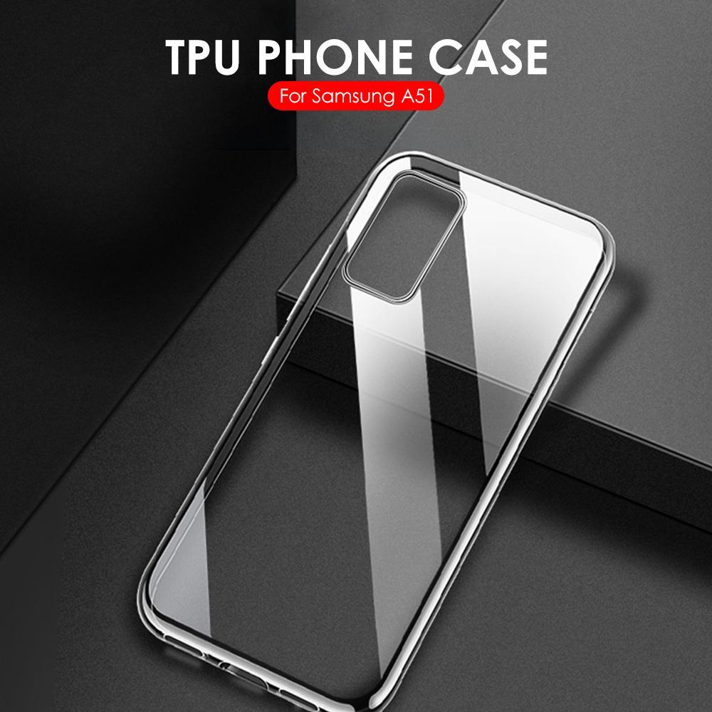 Caso transparente do telefone para samsung galaxy a51 a71 caso em sm a515f a715f 2019 silicone macio capa para galaxy a51 a71 a 51 caso