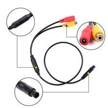 1 шт., автомобильный обратный резервный Камера 4-контактный разъем к женскому разъему RCA CVBS провода сигнала Мощность шнур адаптера