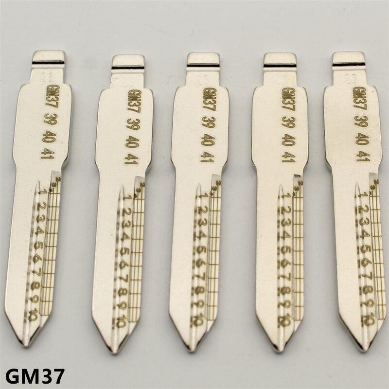 XIEAILI OEM 30 шт. NO.26 GM37 гравировка линии ключа лезвия резки зубов нерезанное лезвие ключа для Buick K422