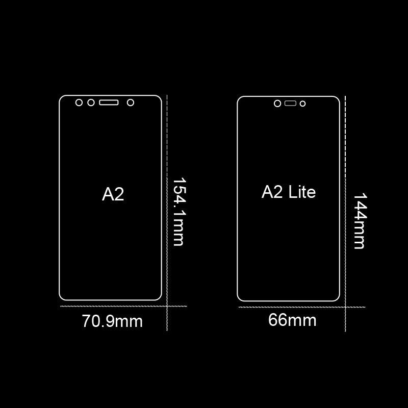2PCS/lot  For Glass Xiaomi Mi A2 Lite Screen Protector Tempered Glass For Xiaomi Mi A2 Lite Glass Phone Film For Xiaomi Mi A2