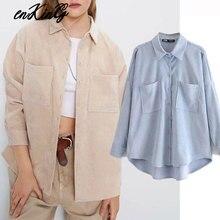 2019 england preppy oversize corduroy autumn za blouse women blusas mujer de moda 2019 boyfriend shirt womens tops and blouses