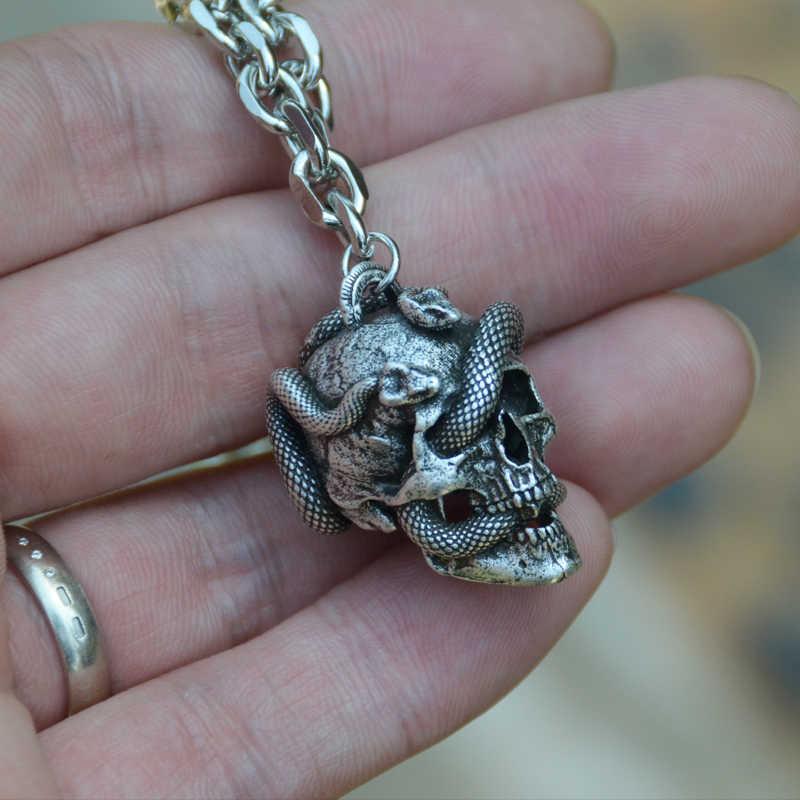 Snake skull pendant