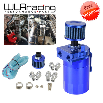 FREE SHIPPING Baffled Aluminum Oil Catch Can Reservoir Tank / Oil Tank With Filter Universal WLR-TK64