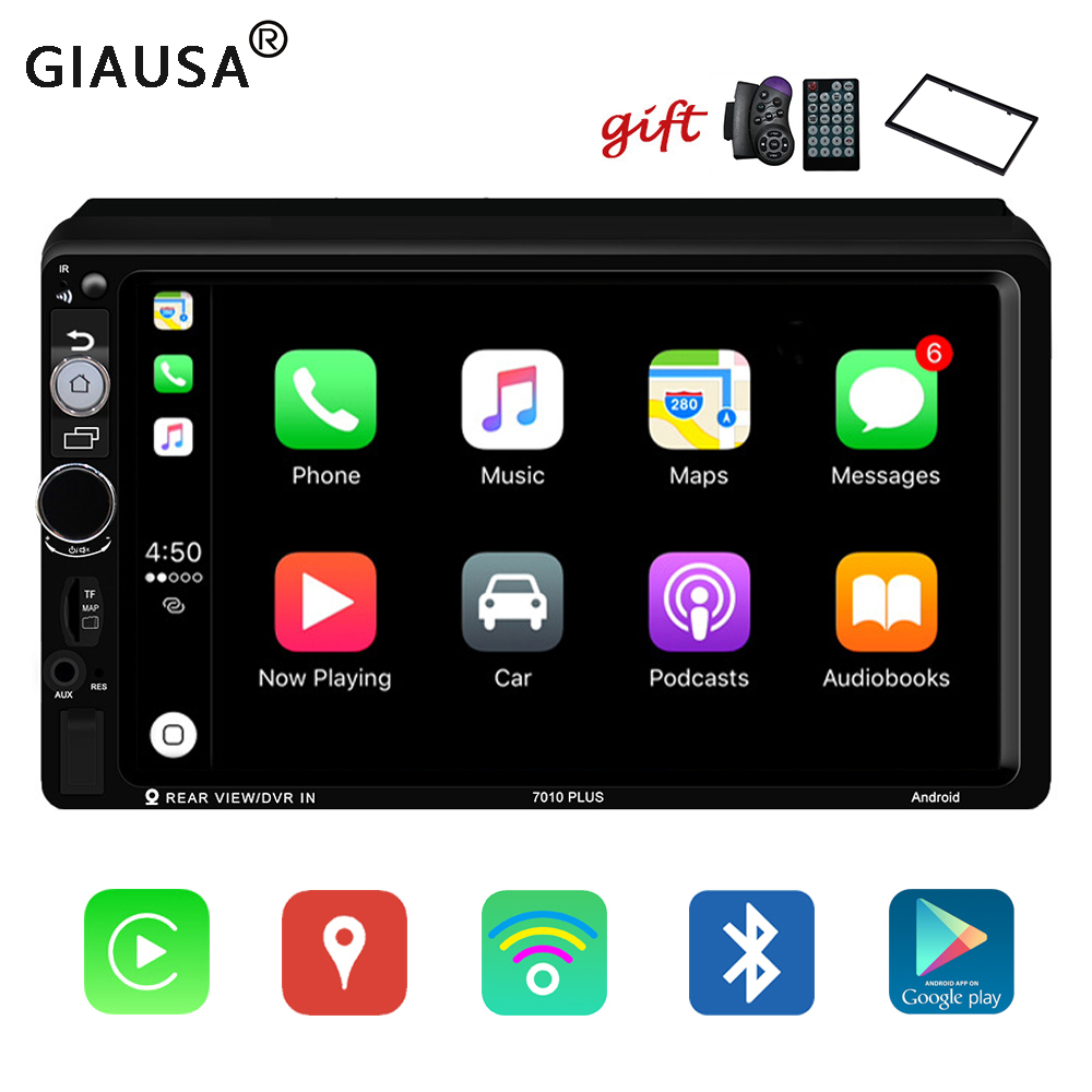 7'' Car Radio For Apple Carplay 2 Din Android Car Stereo GPS Multimedia Player Universal Touch Auto Radio DAB AUX USB Subwoofer image