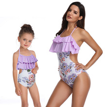 NEW Mother & Daughter Swimsuit Ruffle Mom Swimwear Family Look Mommy And Me Bikini Matching Clothes J75
