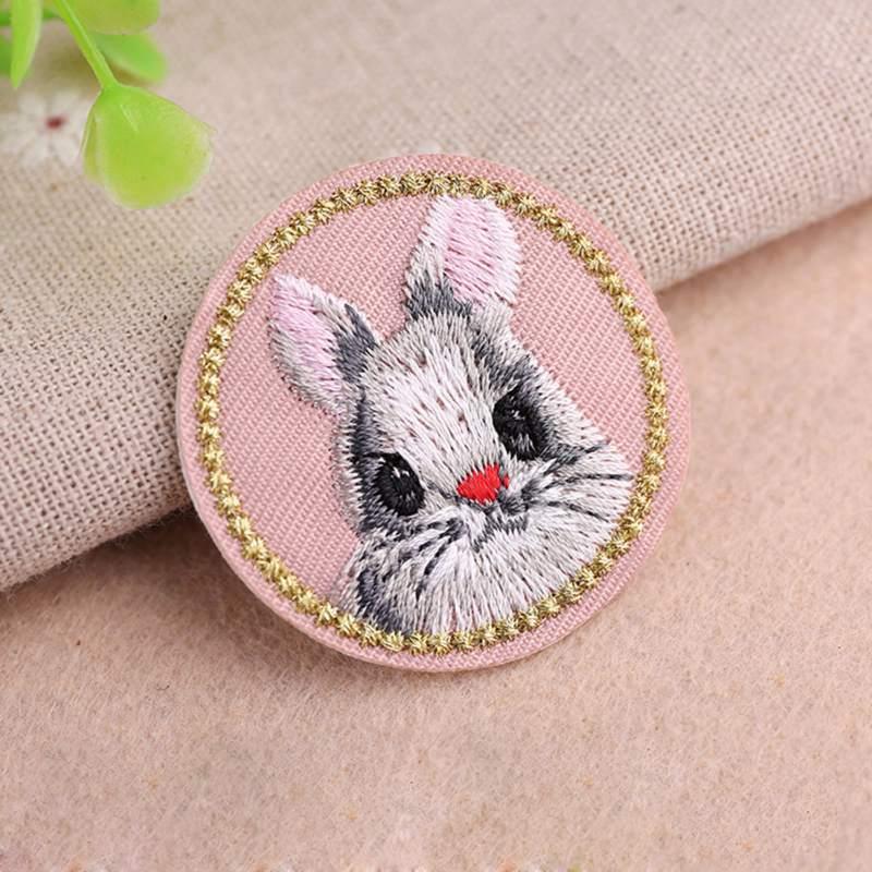 Animal bonito Pano Bordado Adesivos Remendos de Tecido Diy Roupas Jaqueta Jeans Acessórios Decorativos New2 - 3